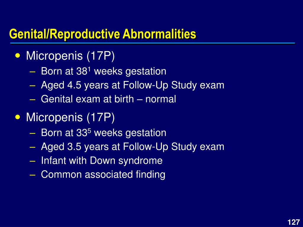 Genital/Reproductive Abnormalities