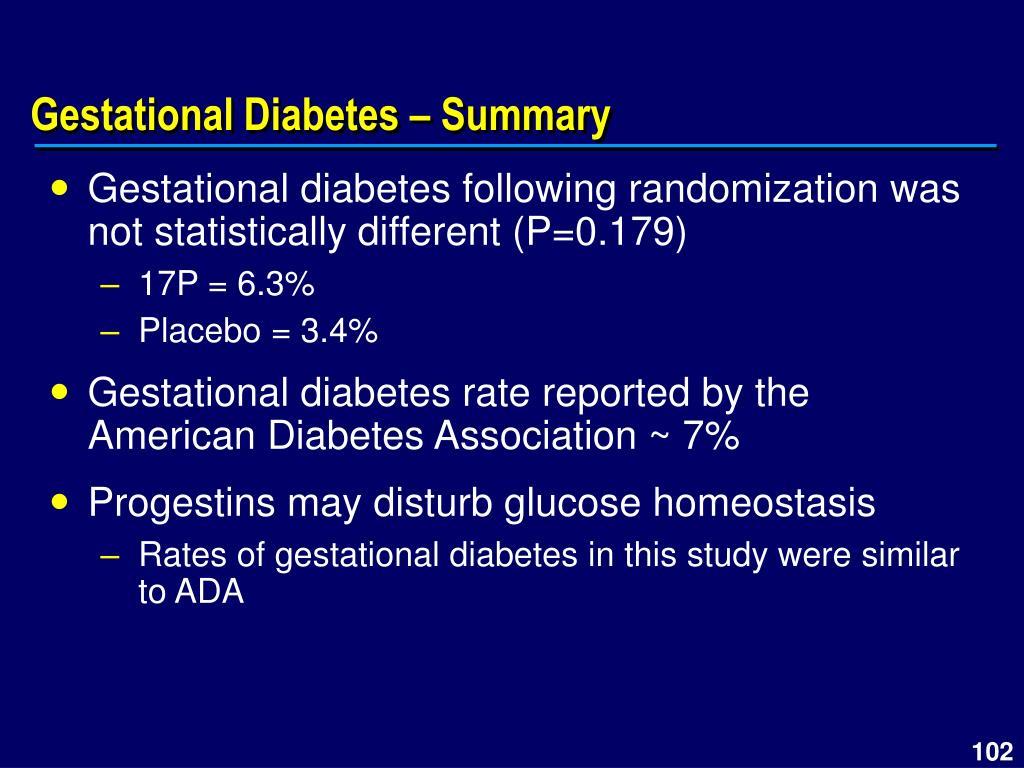 Gestational Diabetes – Summary