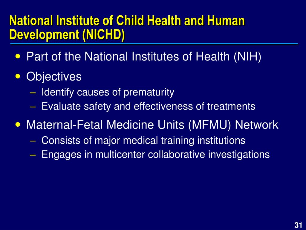 National Institute of Child Health and Human Development (NICHD)