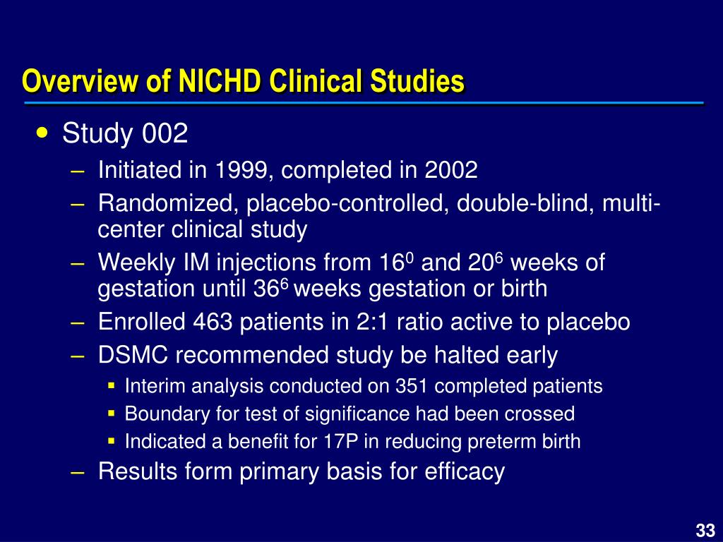 Overview of NICHD Clinical Studies