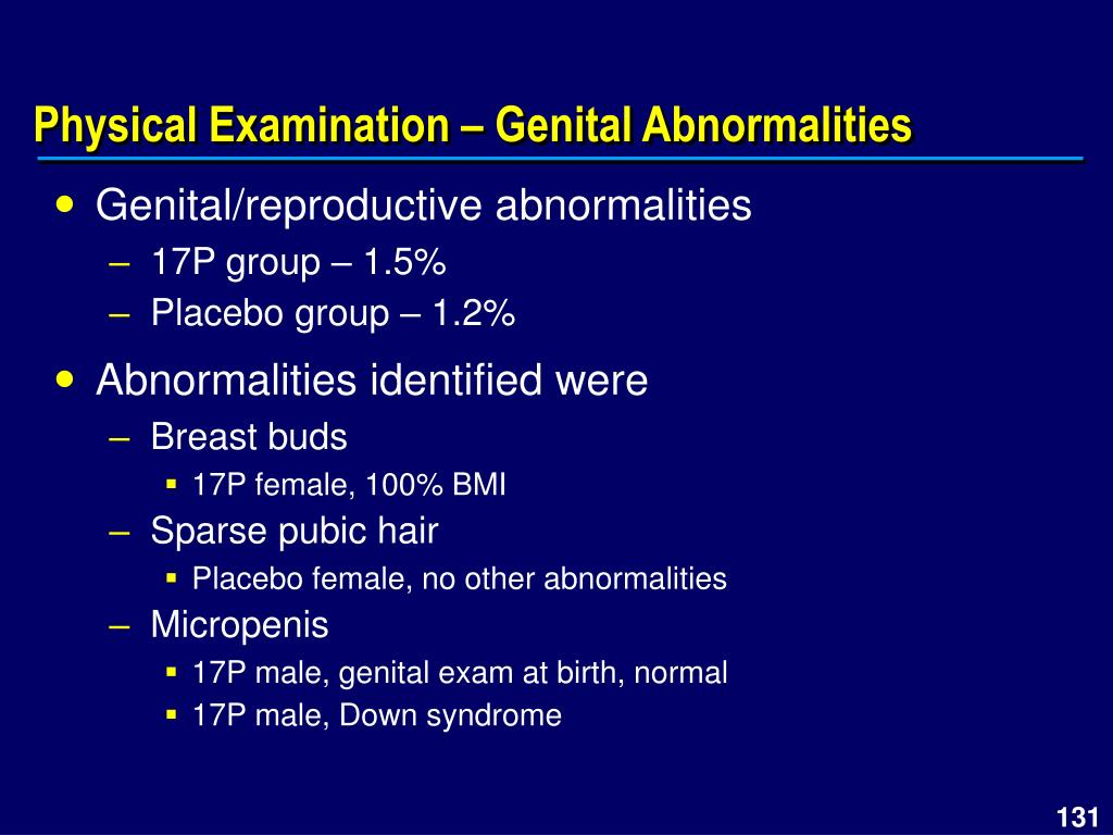 Physical Examination – Genital Abnormalities