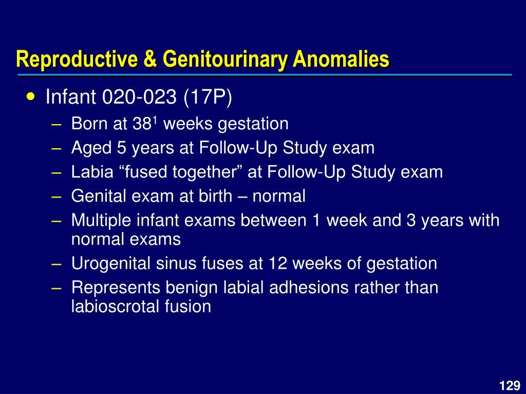 Reproductive & Genitourinary Anomalies