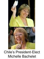 chile s president elect michelle bachelet