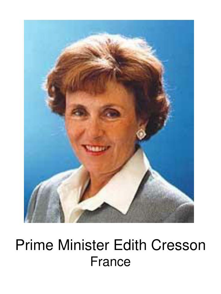 Prime Minister Edith Cresson