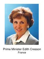 prime minister edith cresson france