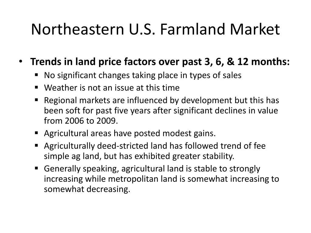 Northeastern U.S. Farmland Market