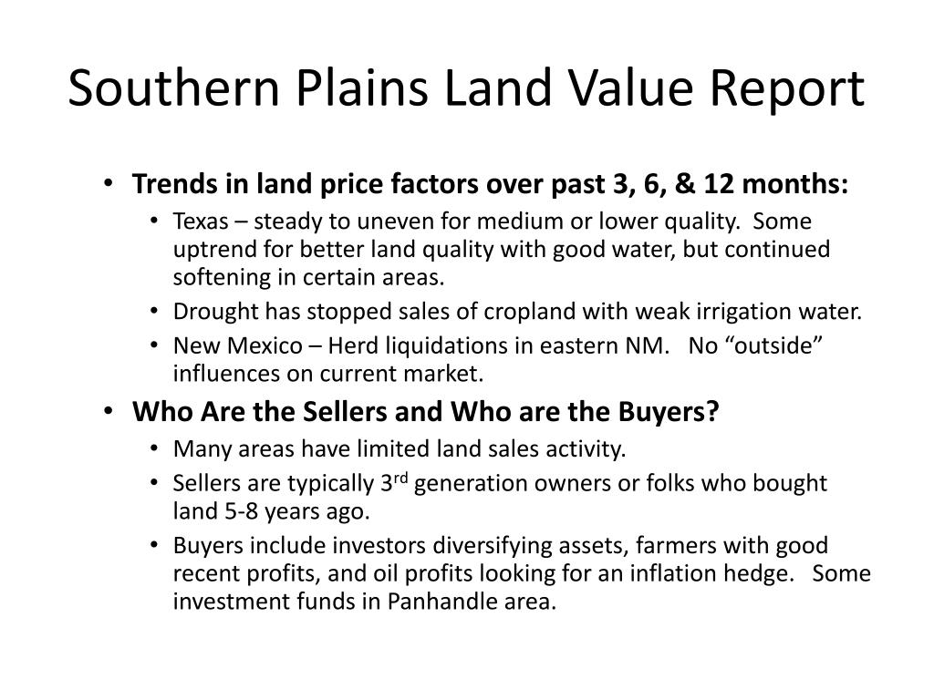 Southern Plains Land Value Report