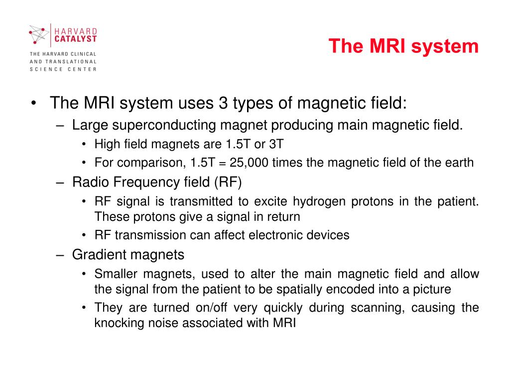 The MRI system