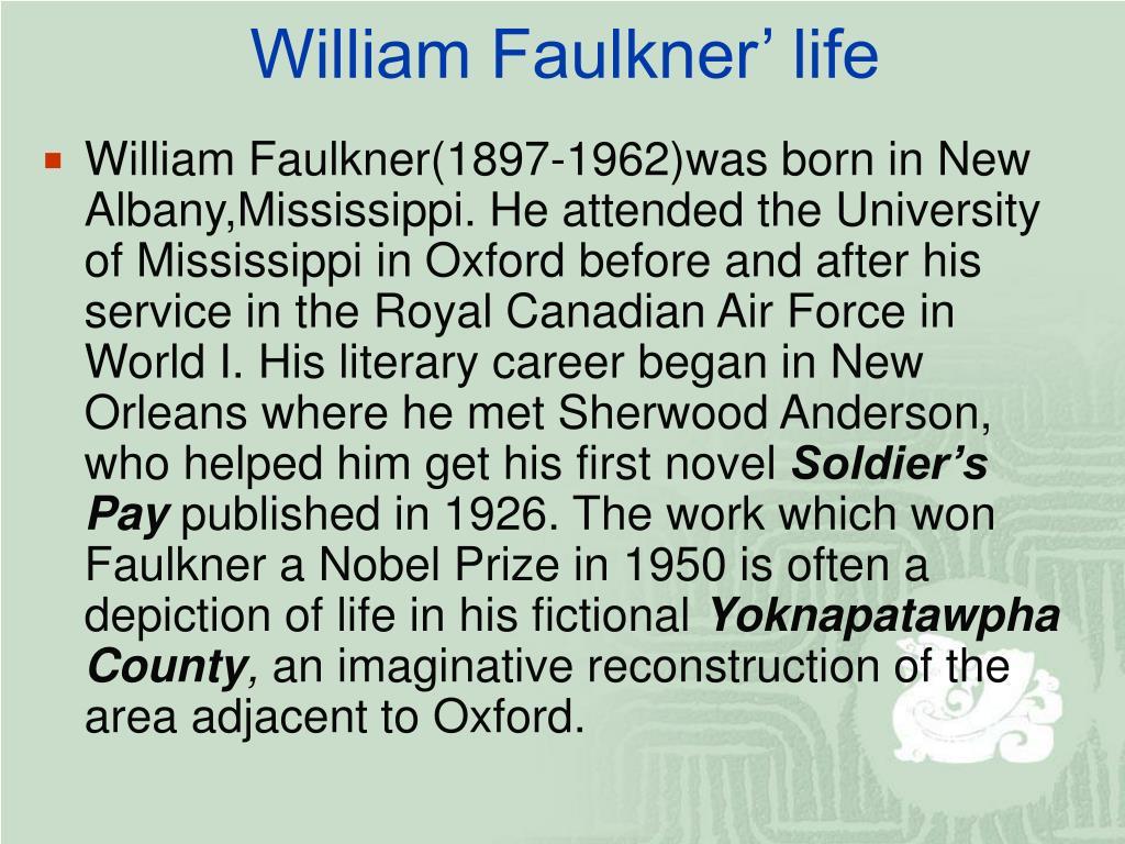 William Faulkner' life