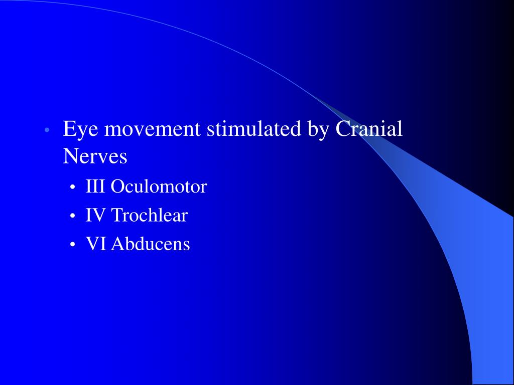 Eye movement stimulated by Cranial Nerves