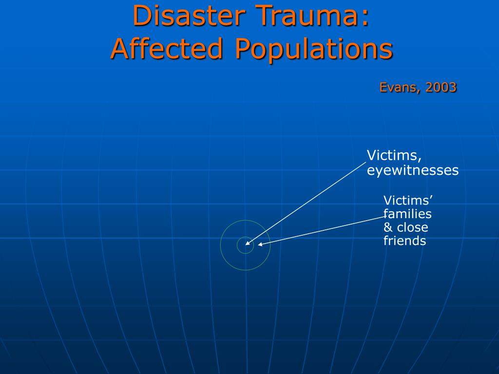Disaster Trauma: