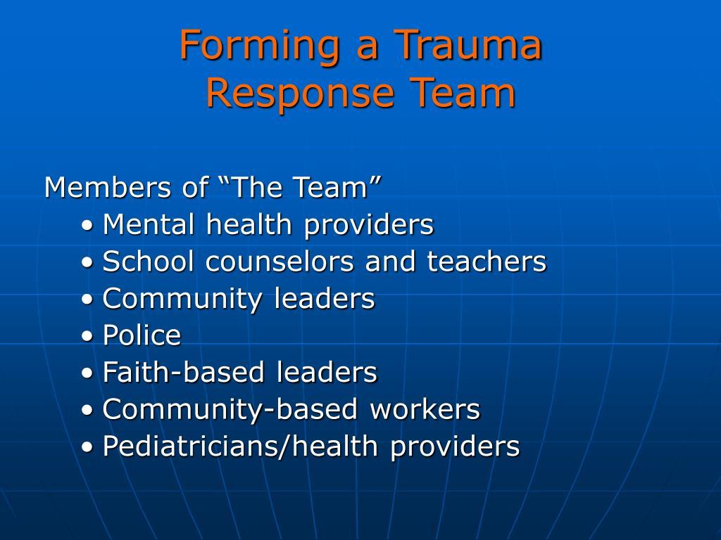 Forming a Trauma