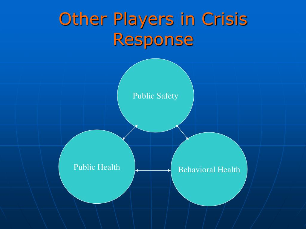 Other Players in Crisis Response