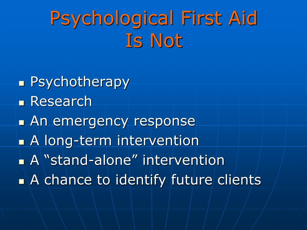 Psychological First Aid