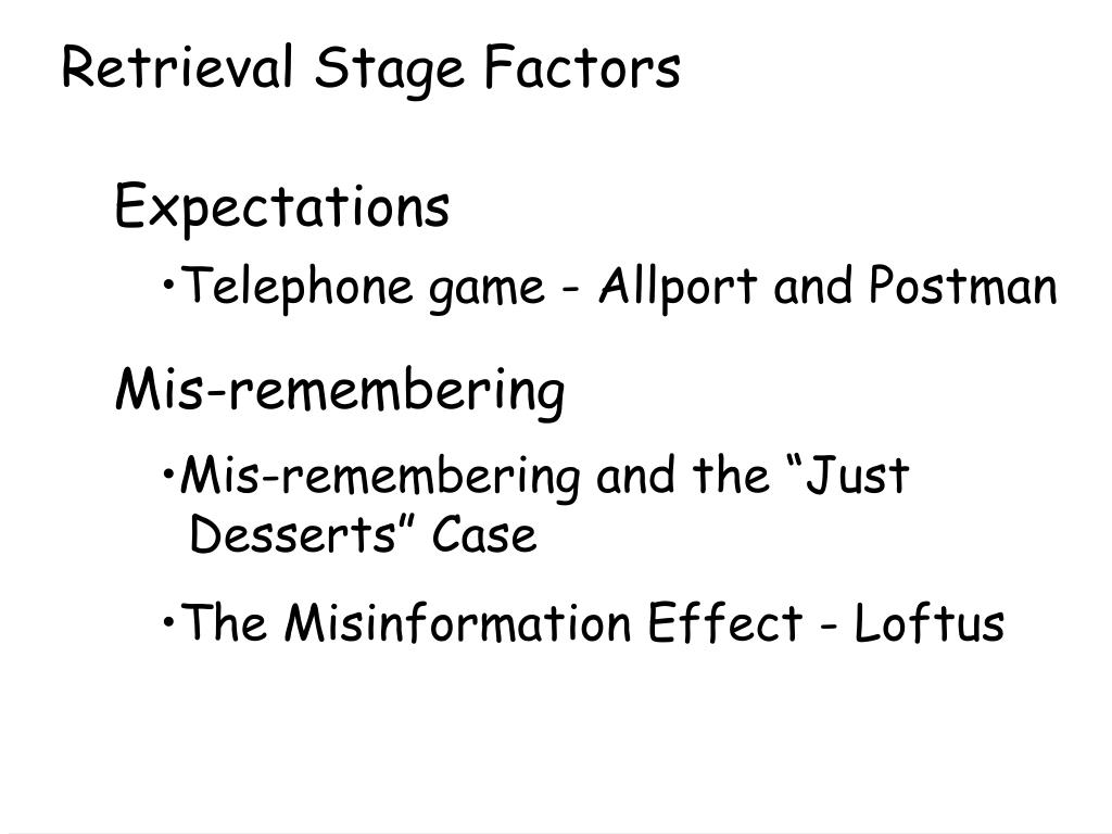 Retrieval Stage Factors