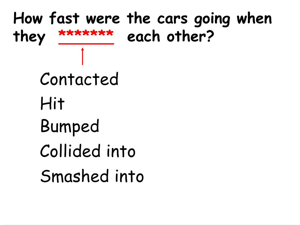 How fast were the cars going when they