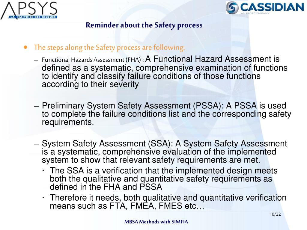 Reminder about the Safety process