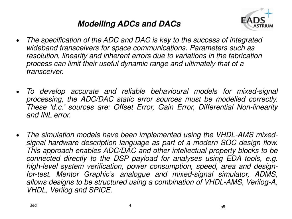 Modelling ADCs and DACs