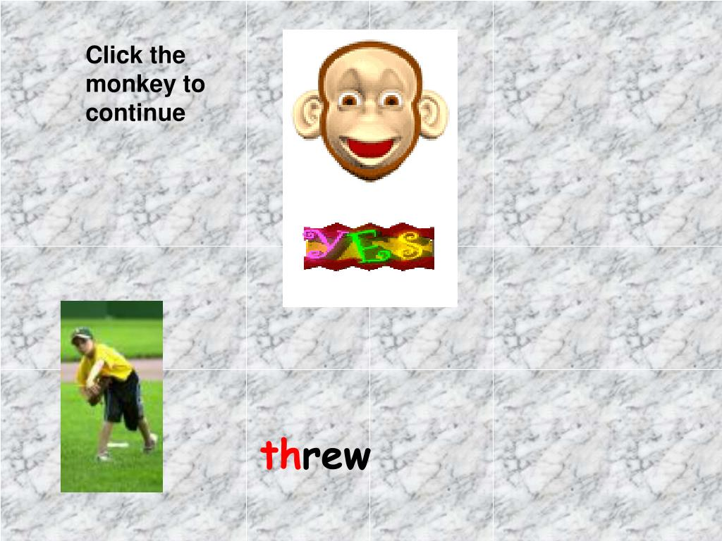 Click the monkey to continue