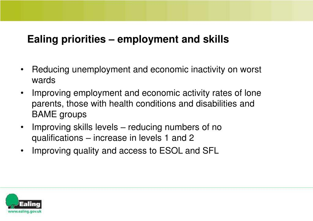 Reducing unemployment and economic inactivity on worst wards