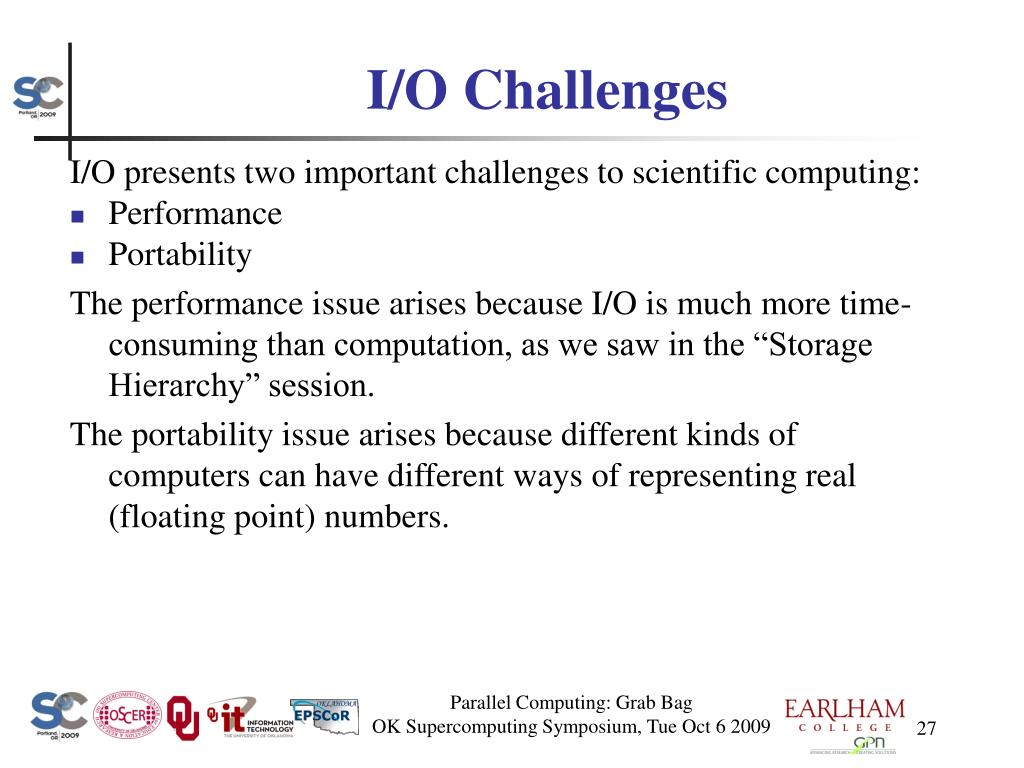 I/O Challenges