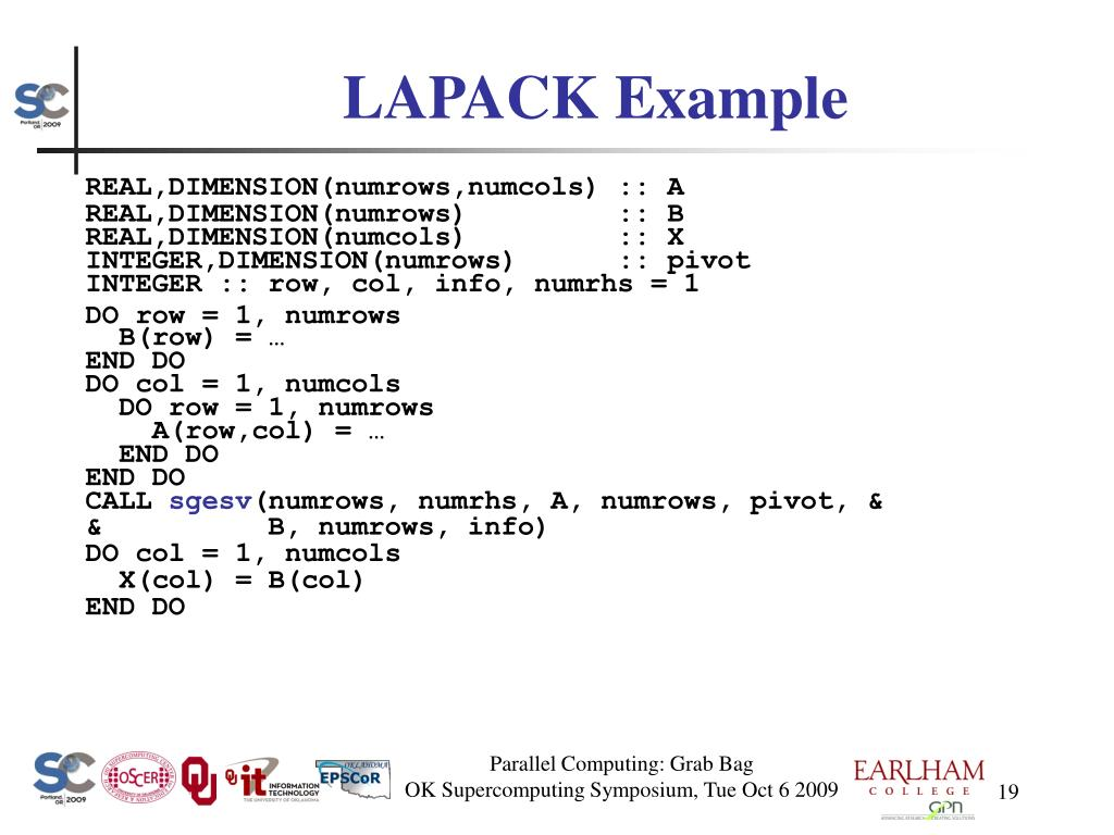 LAPACK Example