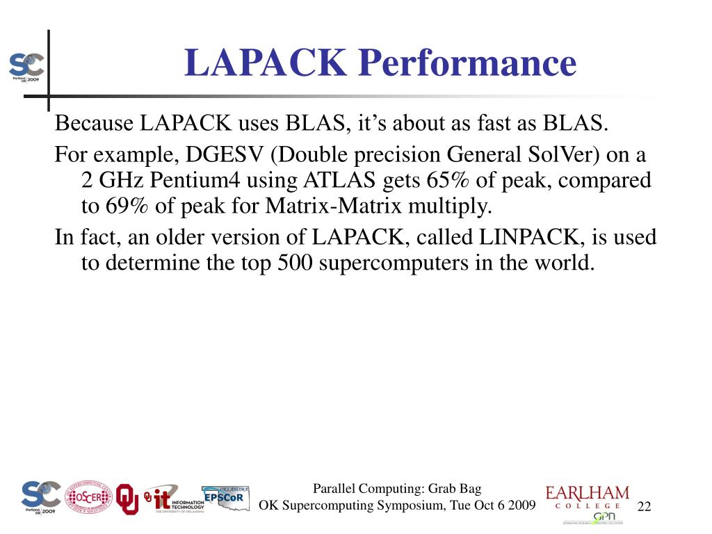 LAPACK Performance