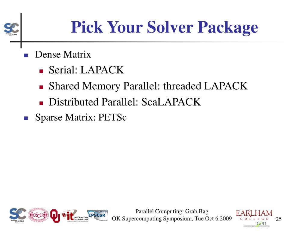 Pick Your Solver Package