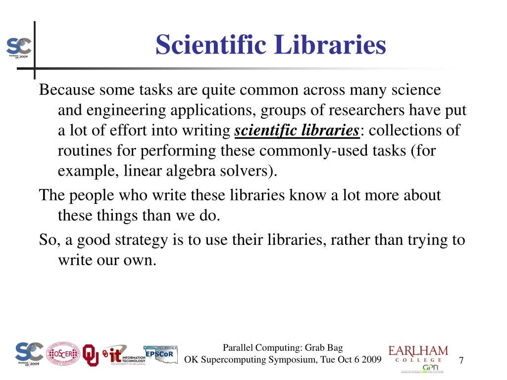 Scientific Libraries