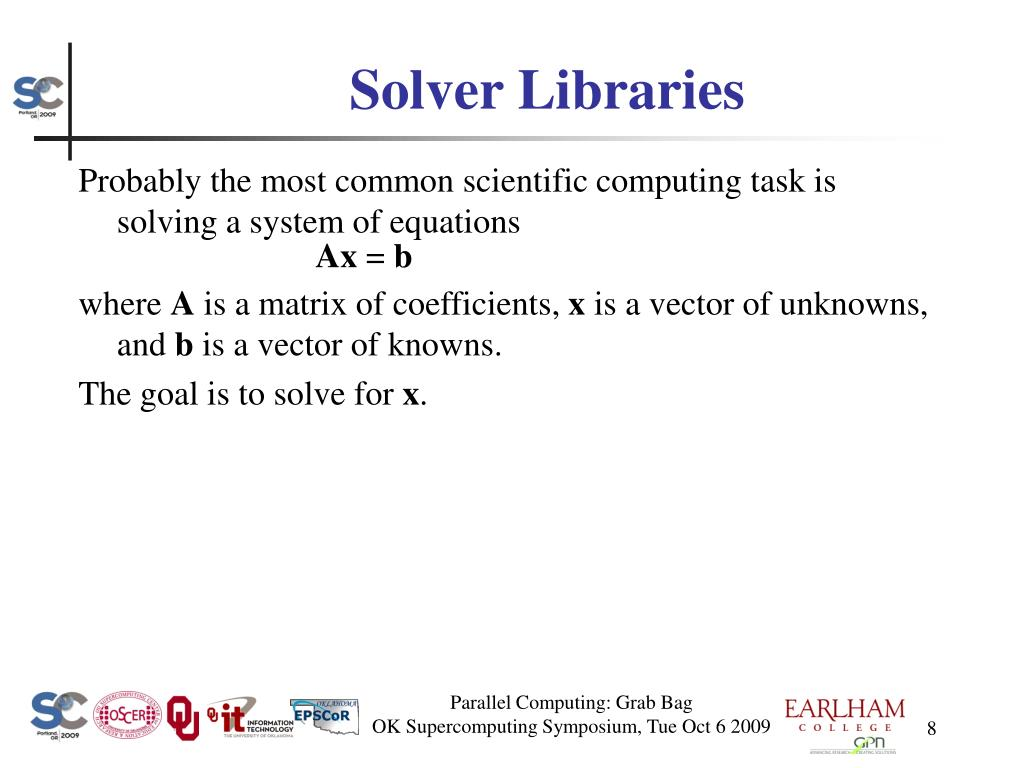 Solver Libraries