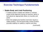 exercise technique fundamentals10