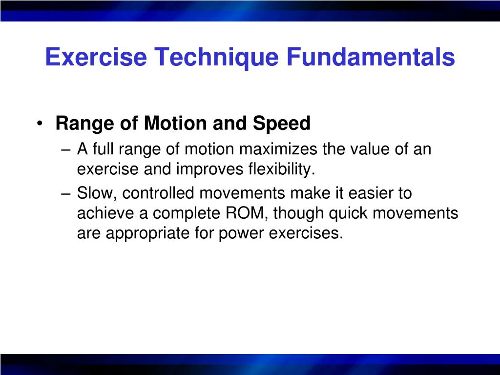 Exercise Technique Fundamentals