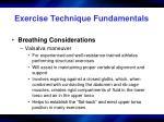 exercise technique fundamentals16