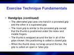 exercise technique fundamentals5