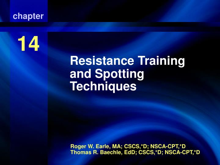 Resistance training and spotting techniques l.jpg