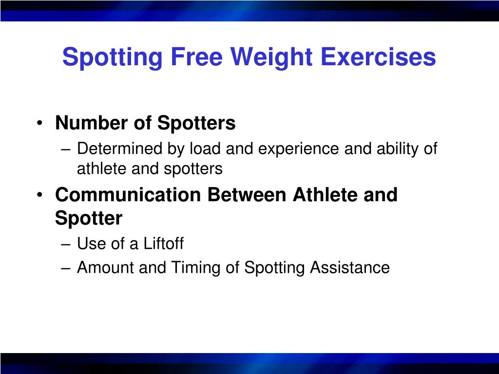 Spotting Free Weight Exercises
