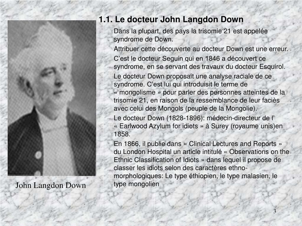 1.1. Le docteur John Langdon Down