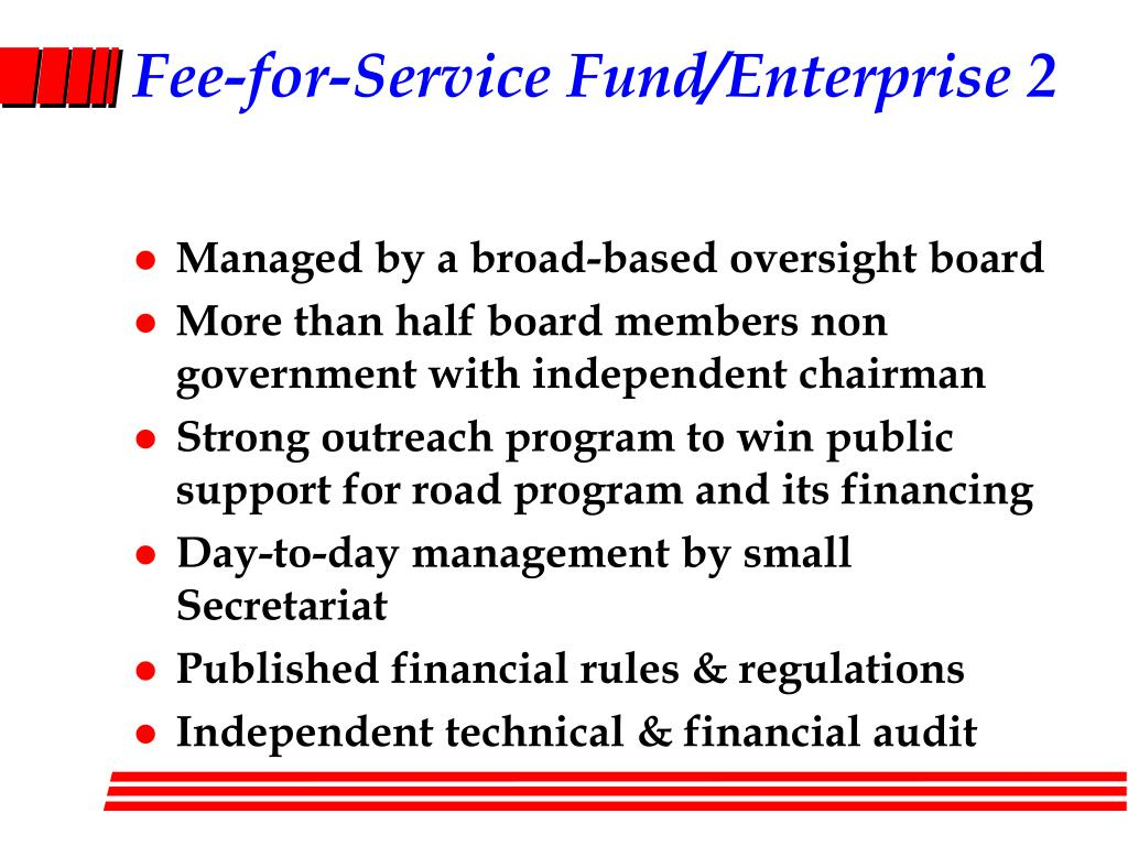 Fee-for-Service Fund/Enterprise 2