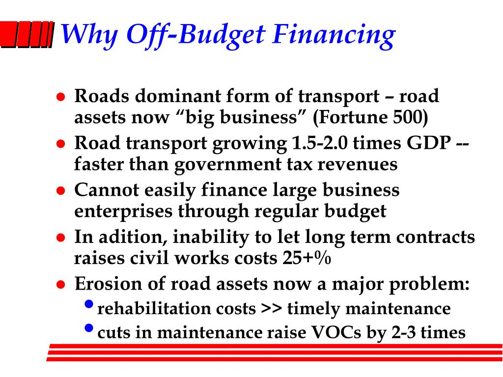 Why Off-Budget Financing