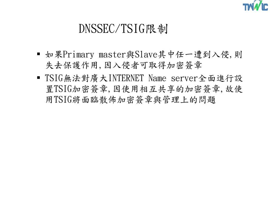 DNSSEC/TSIG