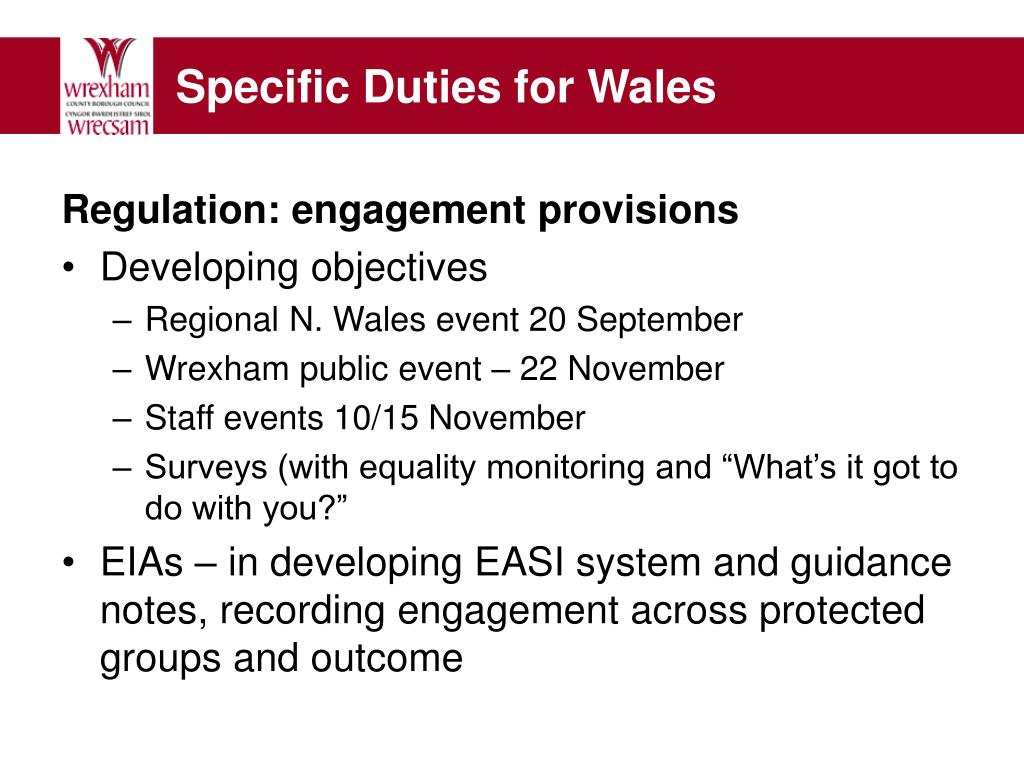 analyse own responsibilites for promoting equality Resources in each themed section can be adapted to suit your own organisation's needs and circumstances statutory body that has responsibility for the promotion and enforcement of equality and non-discrimination laws in 'further roll out of equality impact assessments [now equality analysis] as a total for enhancing.