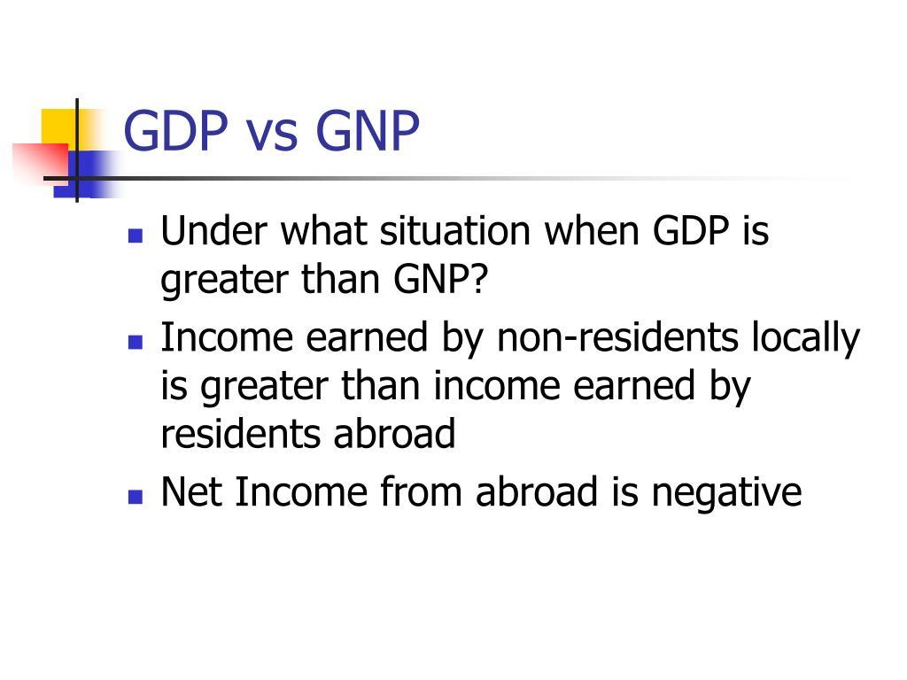 GDP vs GNP