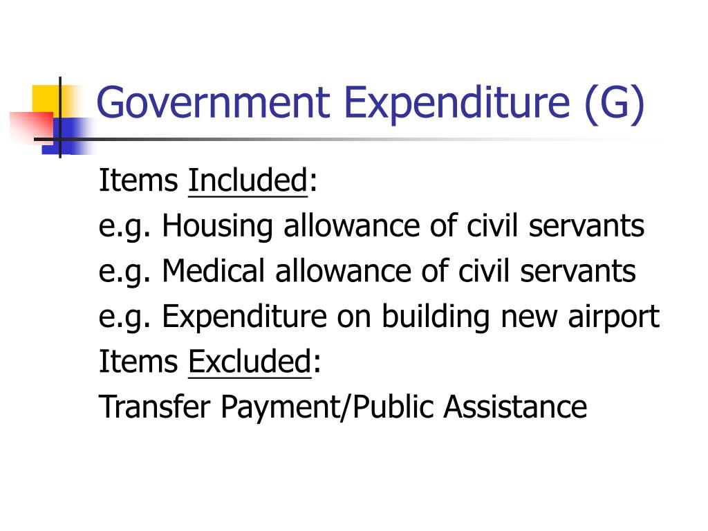 Government Expenditure (G)