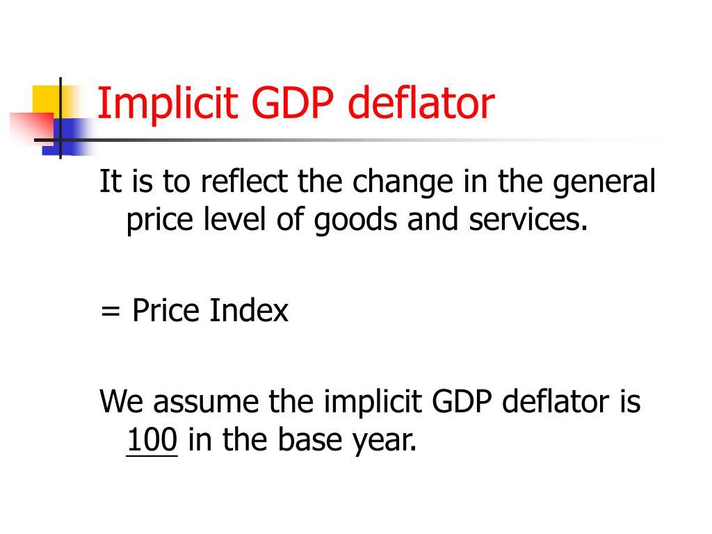 Implicit GDP deflator