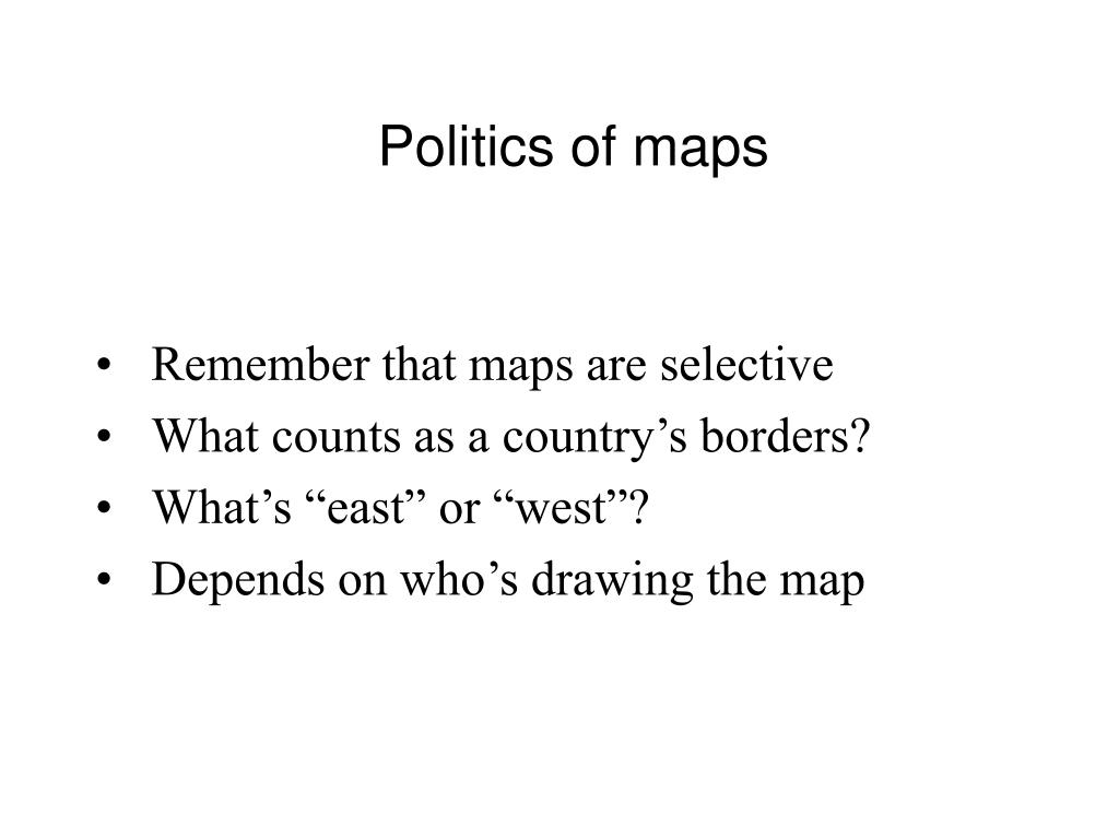 Politics of maps
