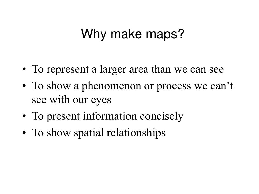Why make maps?