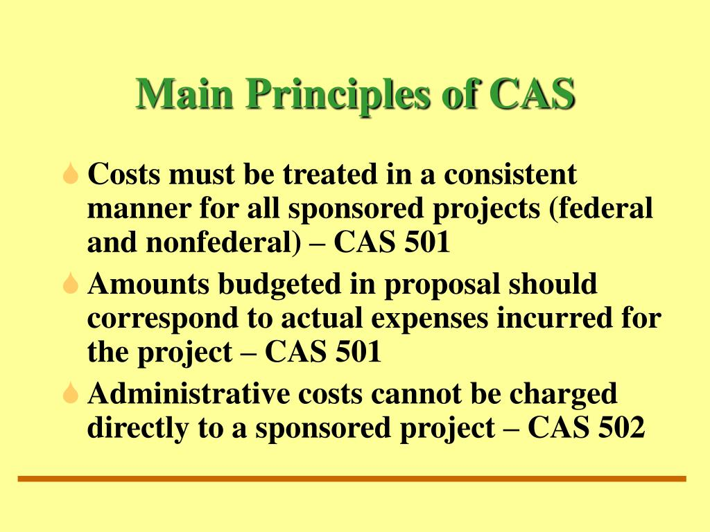 Main Principles of CAS