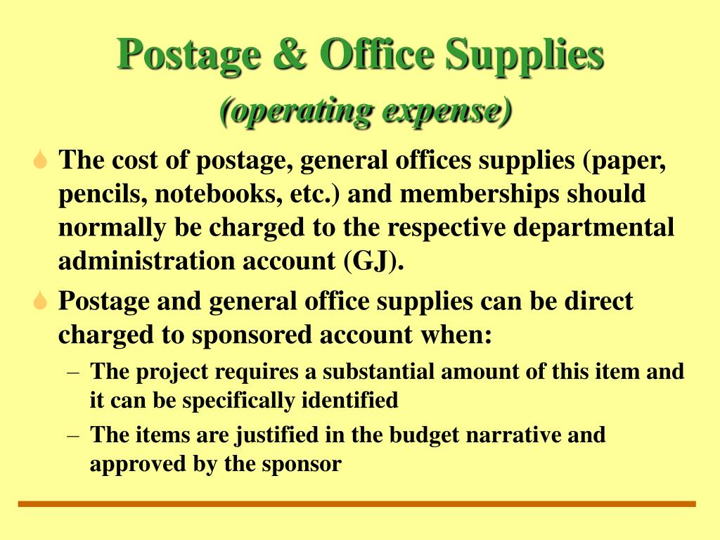 Postage & Office Supplies