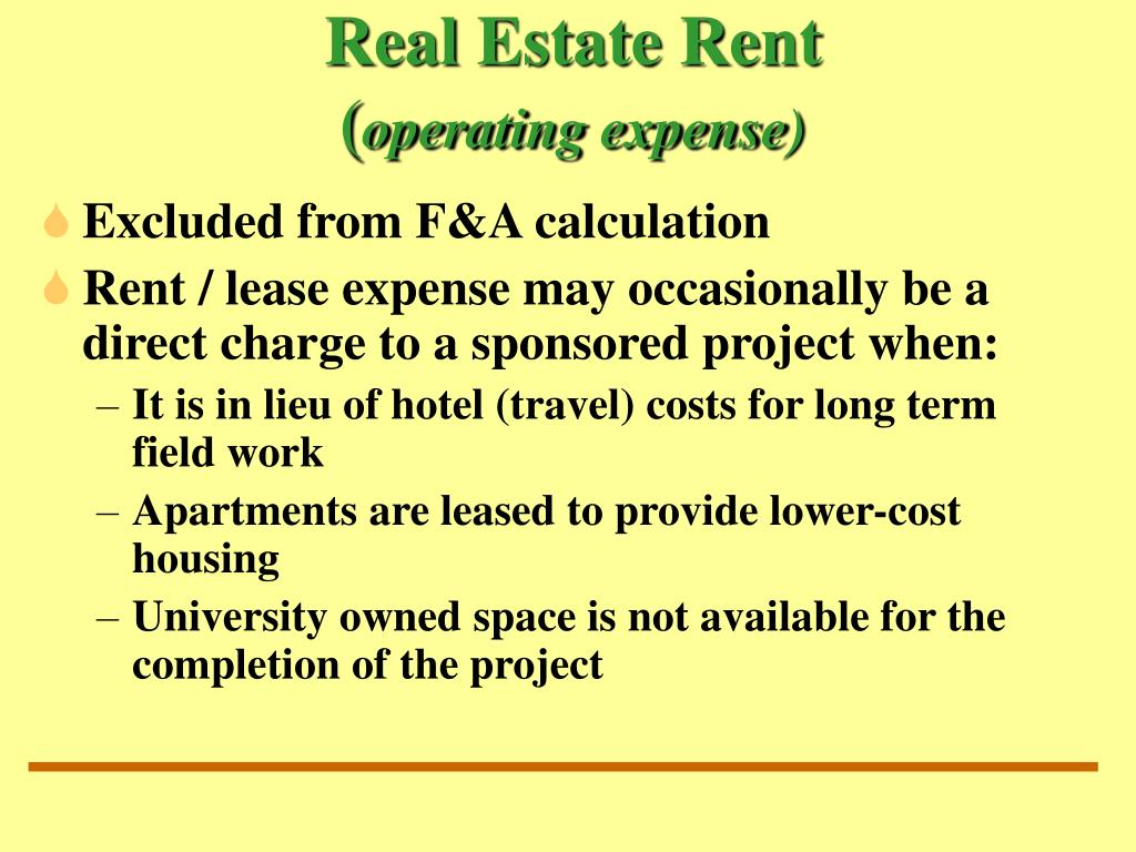Real Estate Rent
