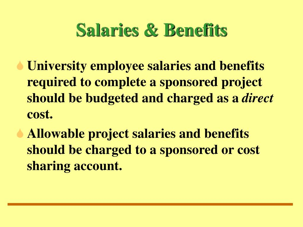 Salaries & Benefits